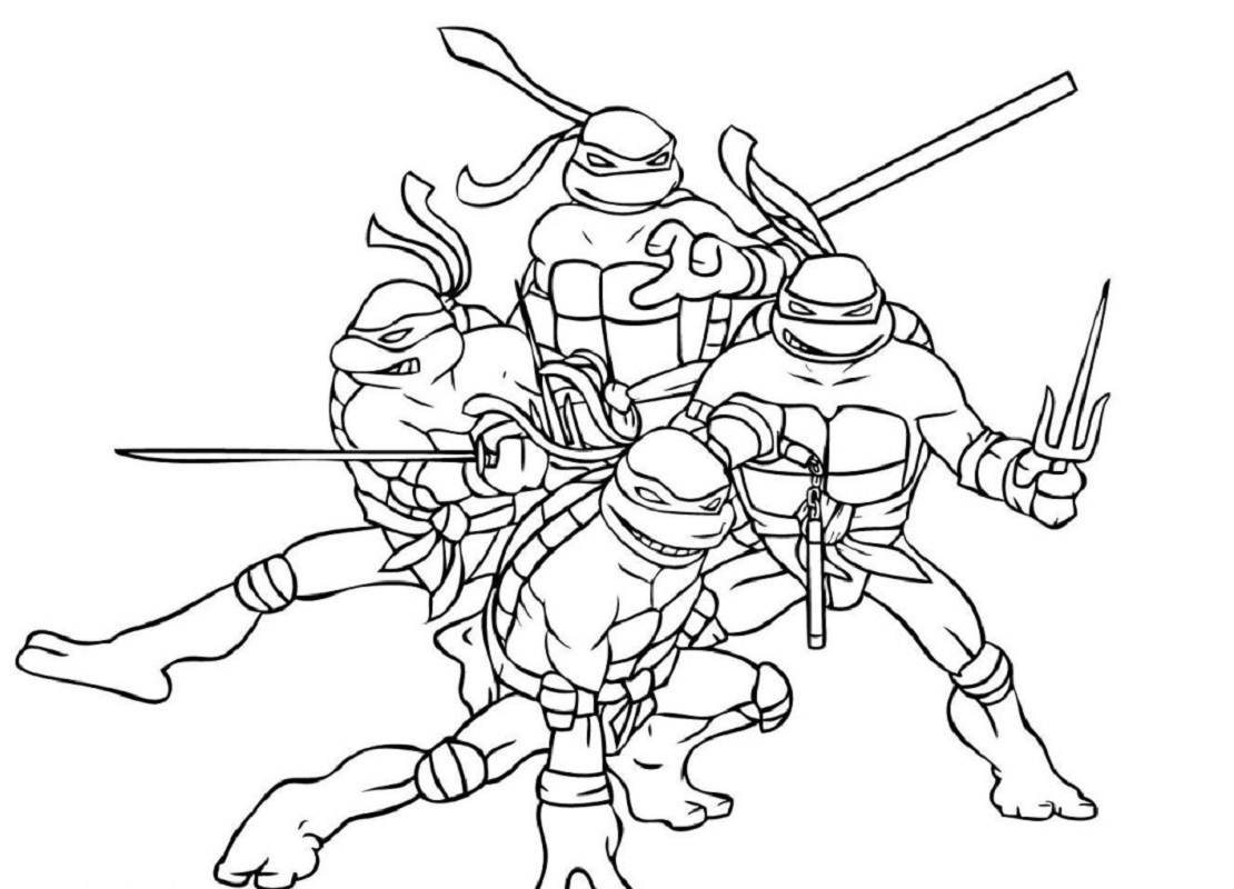 ninja turtle coloring sheets 3
