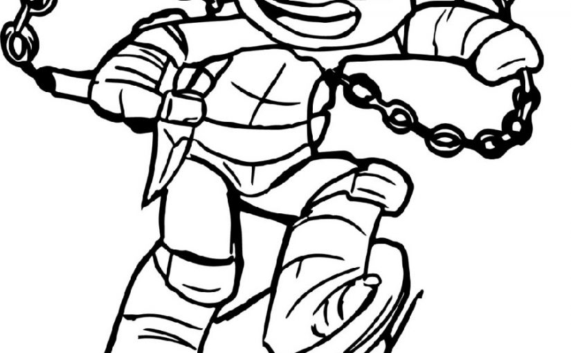 ninja turtle coloring sheets 4