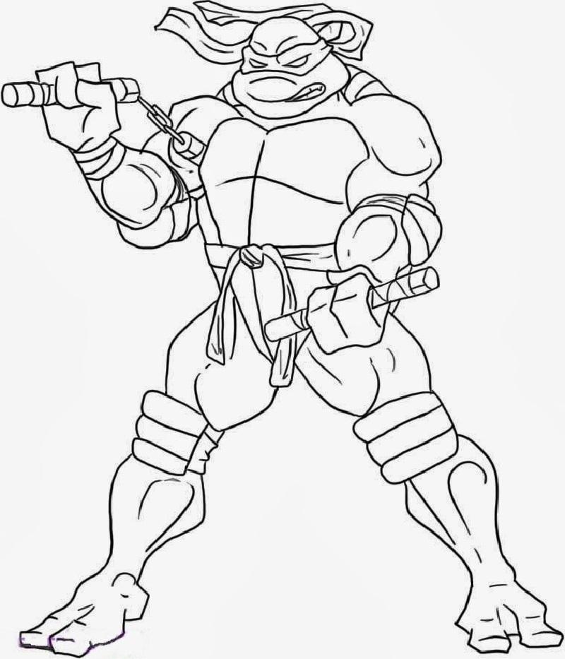 ninja turtle coloring sheets 5