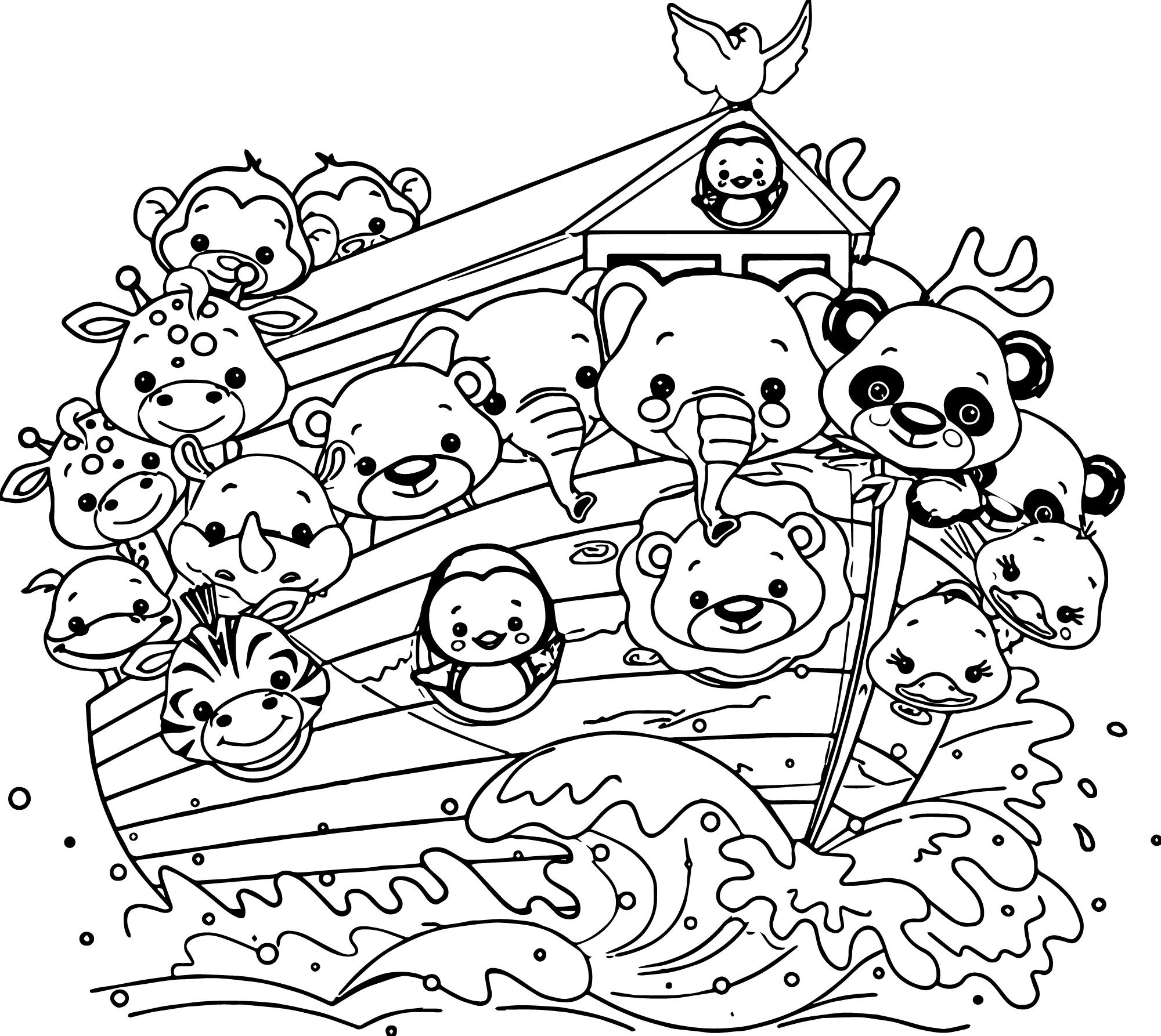 noah's ark coloring page five