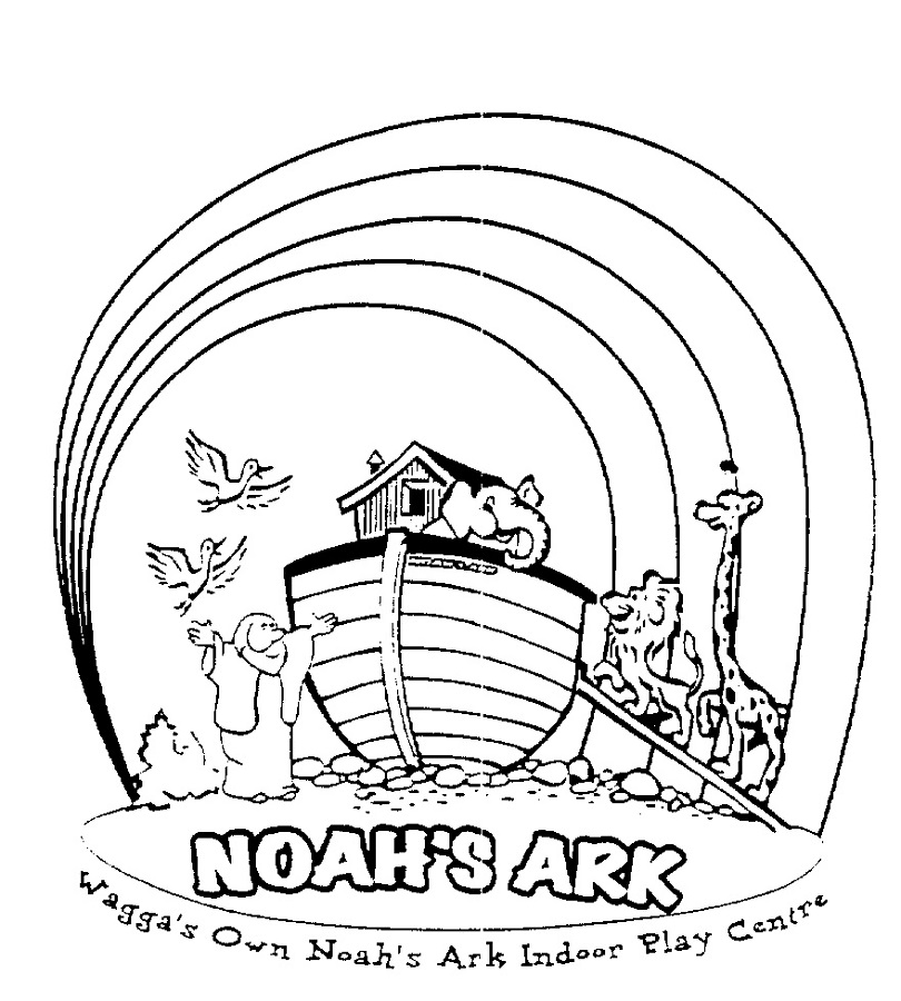 noah's ark coloring page three