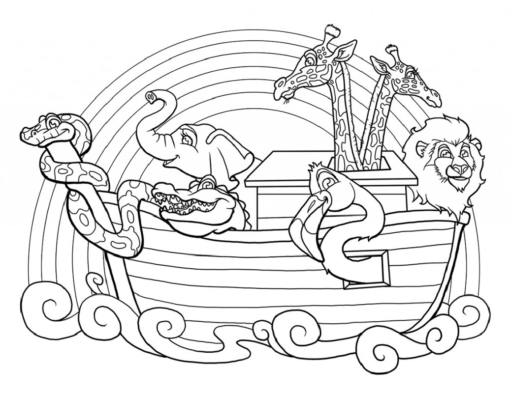 noah's ark coloring page two