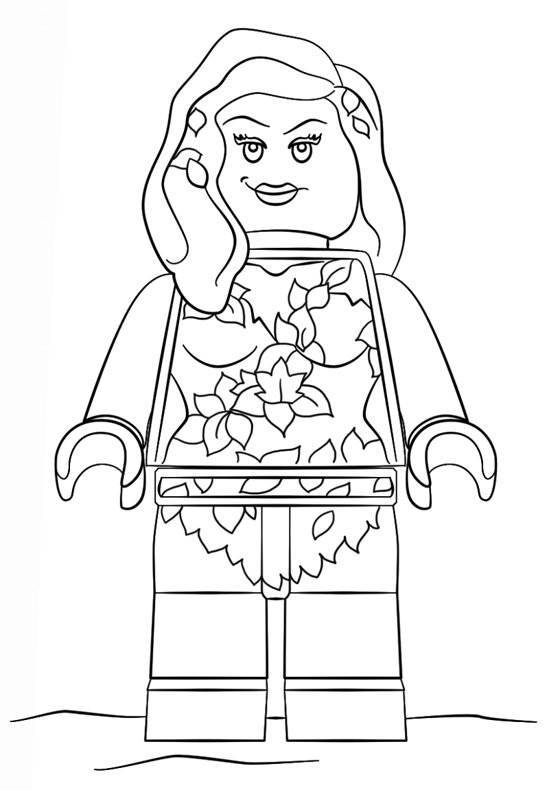 poison ivy coloring pages 1