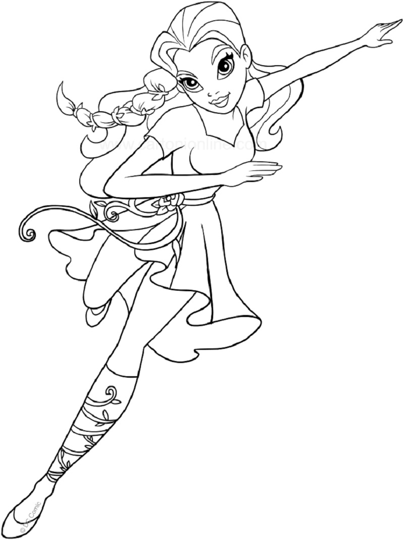 poison ivy coloring pages 2