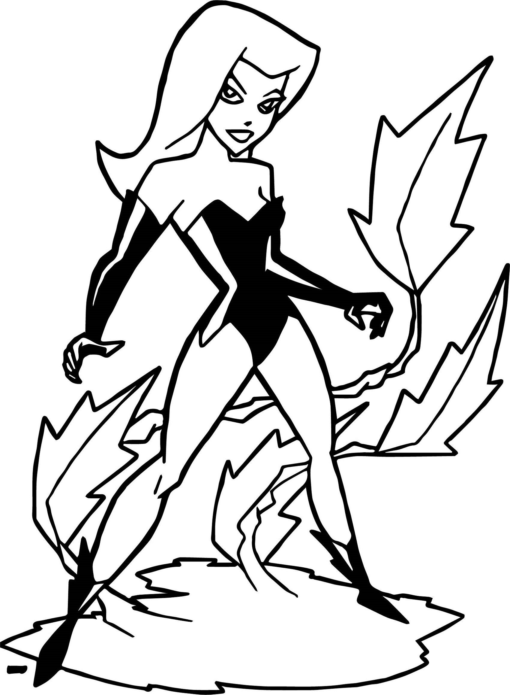 poison ivy coloring pages 3