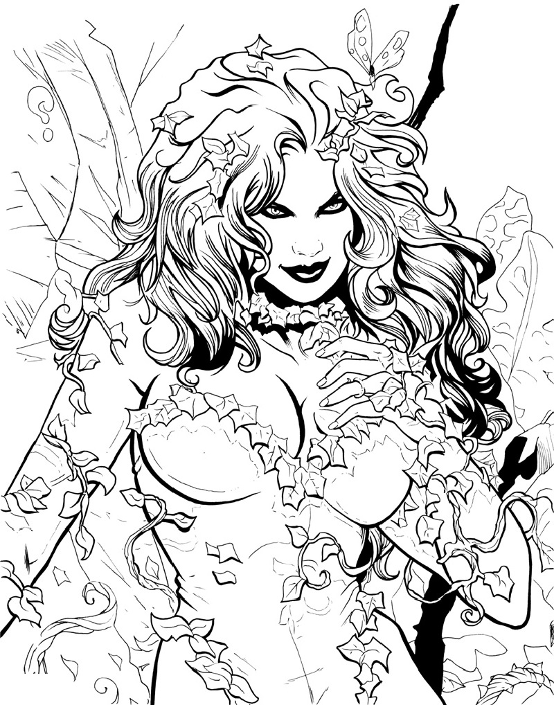 poison ivy coloring pages 4