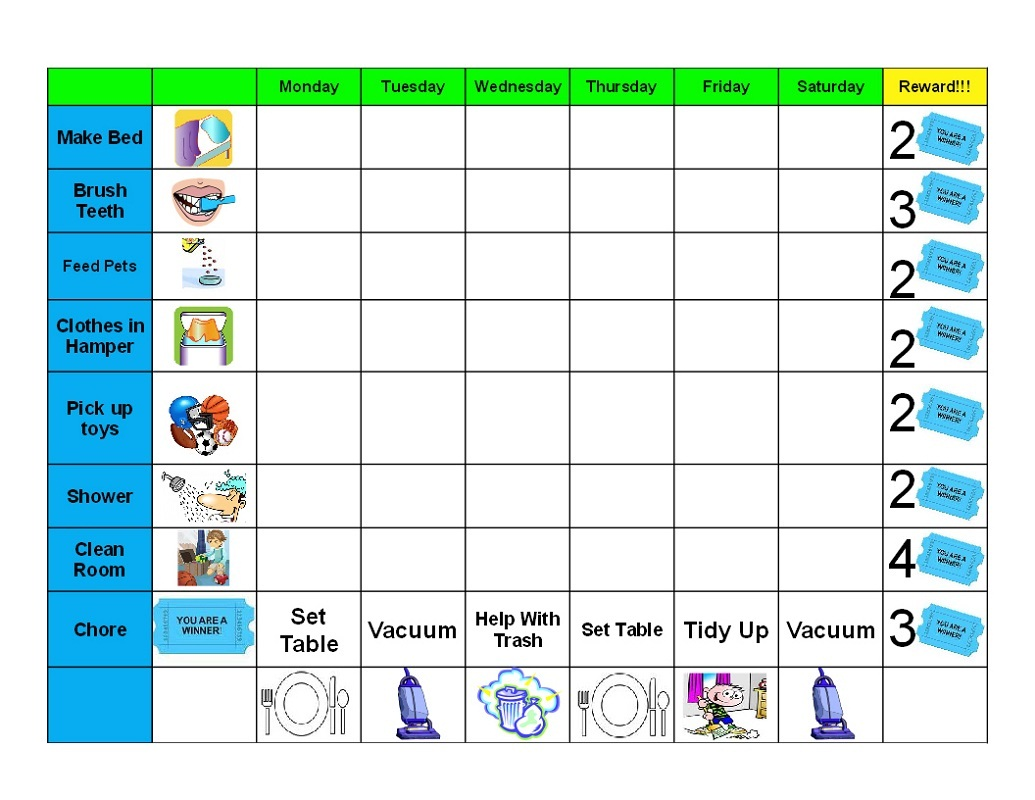 printable behavior charts 3