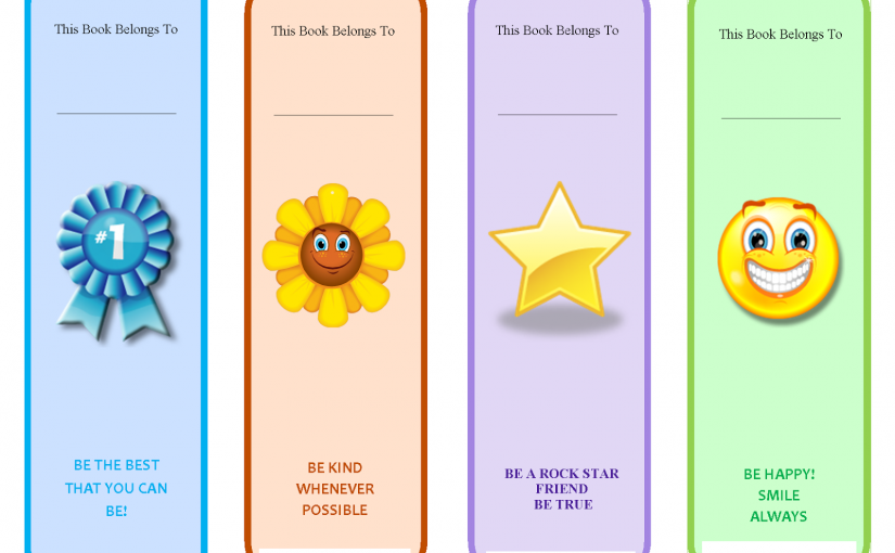 Printable Bookmarks For Kids in The Class