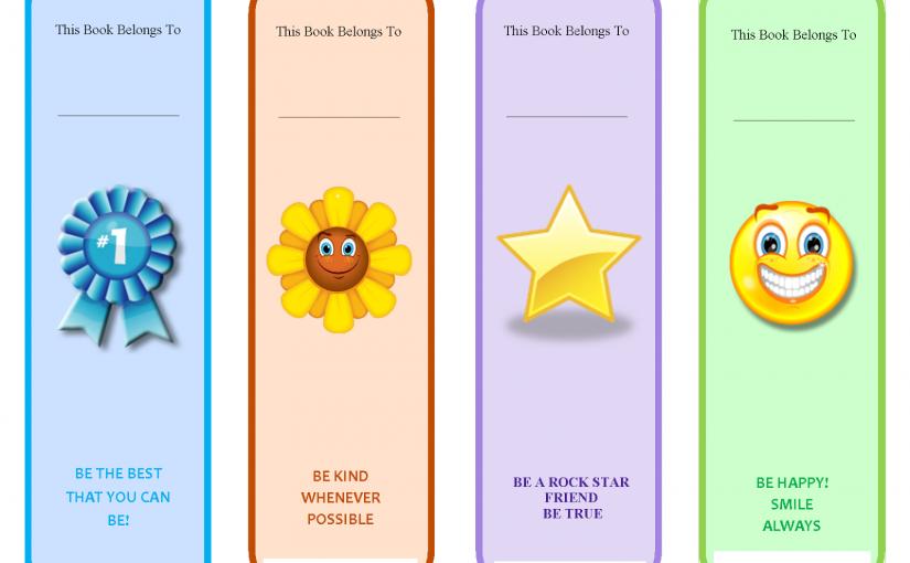 printable bookmarks for kids 1