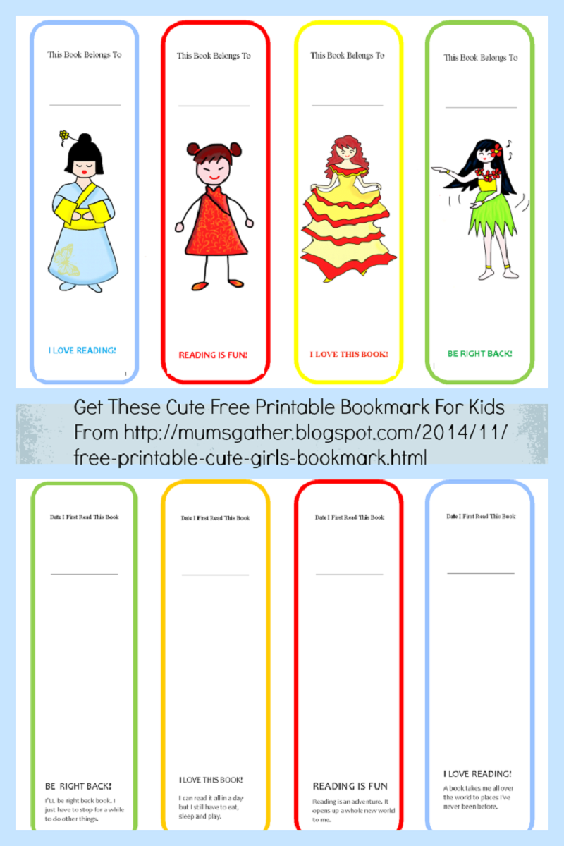 printable bookmarks for kids 5
