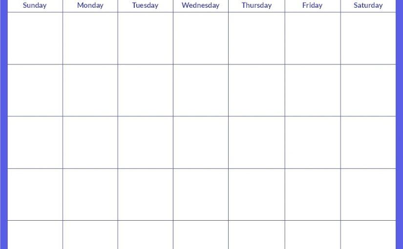 printable calendar pages 1