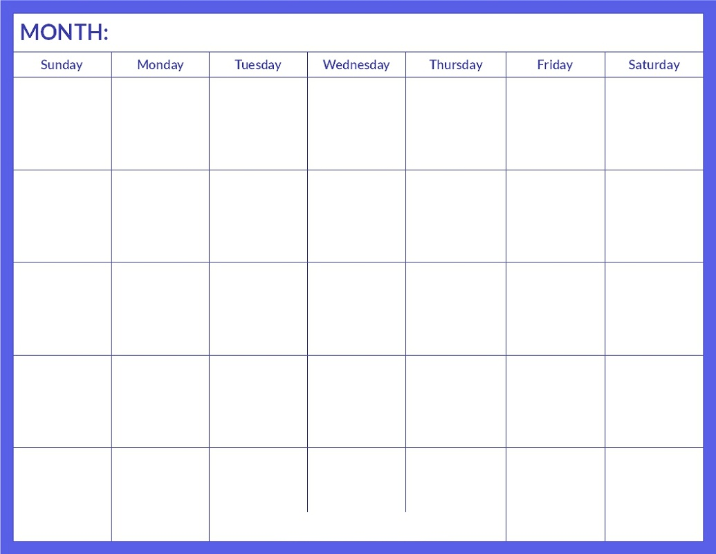 printable calendar pages 1
