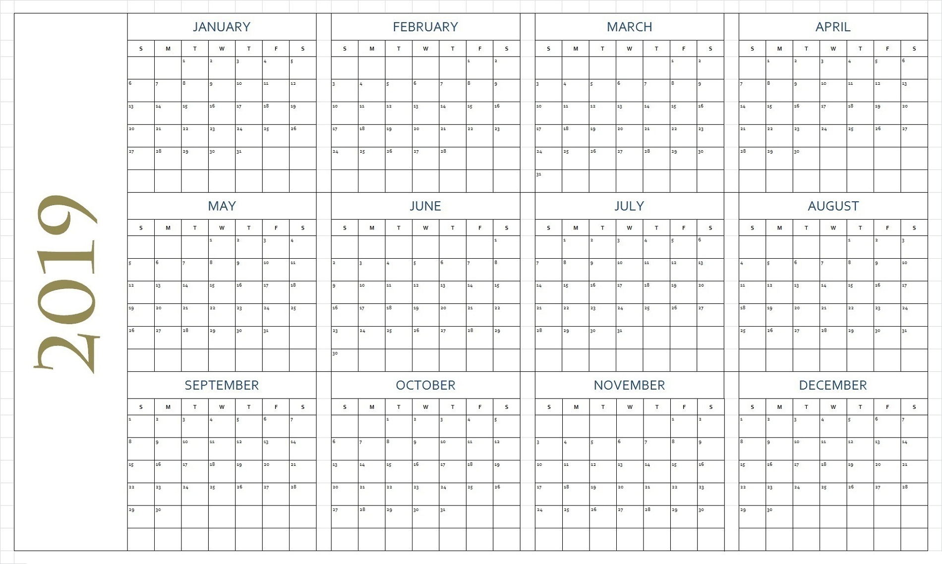 printable calendar pages 4