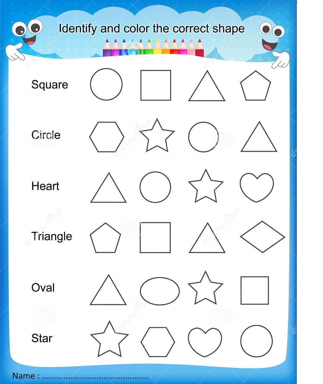 printing sheets for preschoolers 1