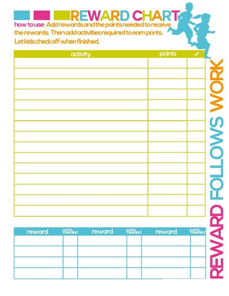 reward chart printable 5
