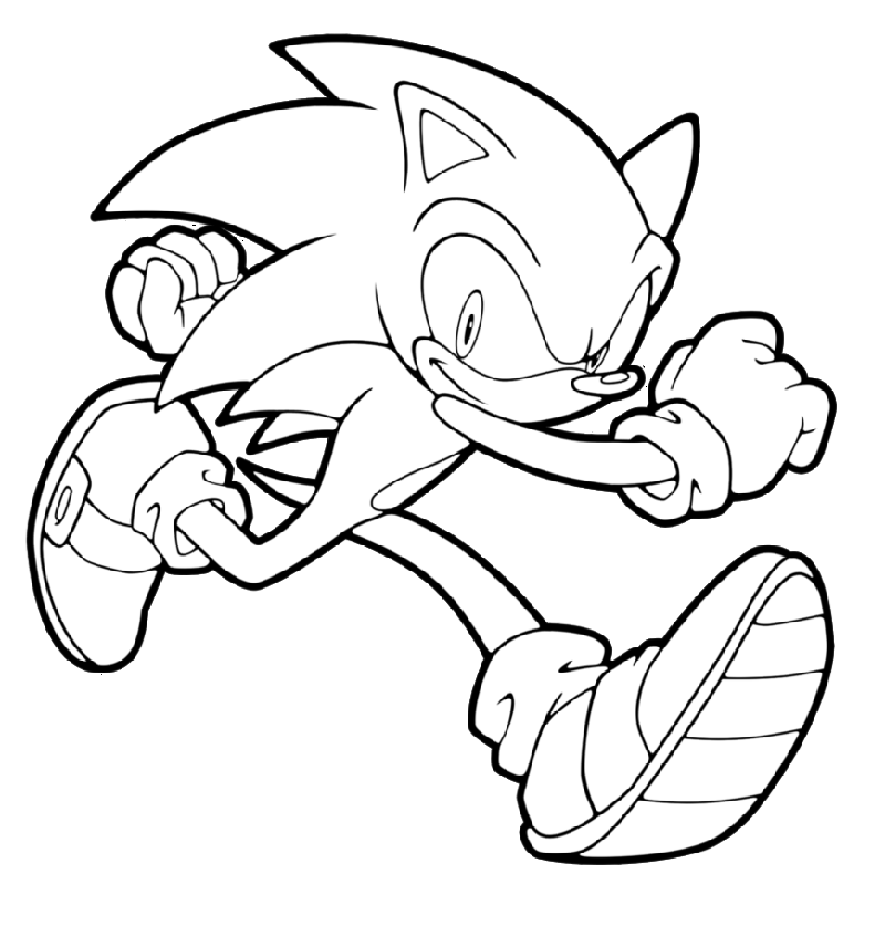 sonic the hedgehog coloring pages 1