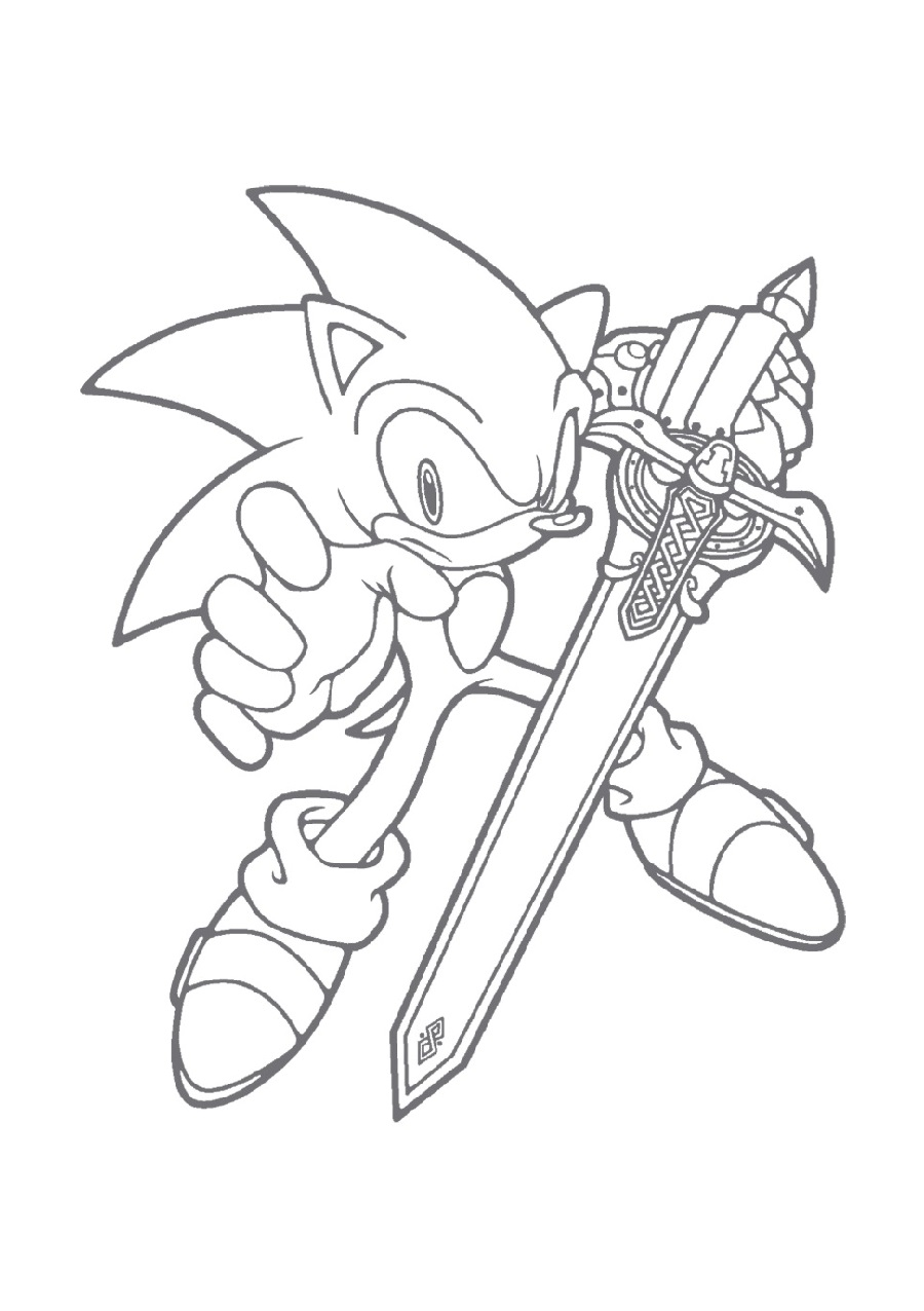 sonic the hedgehog coloring pages 2