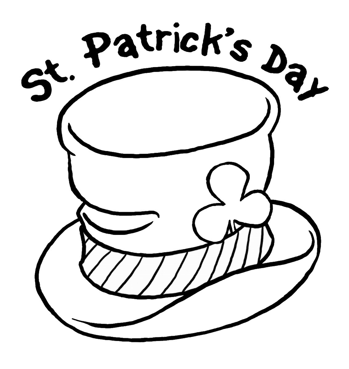 st patrick's day coloring pages 2