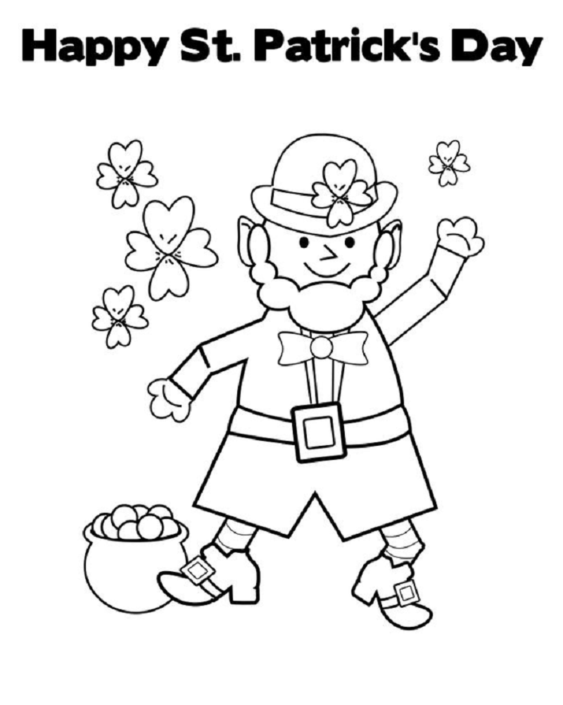 st patrick's day coloring pages 5