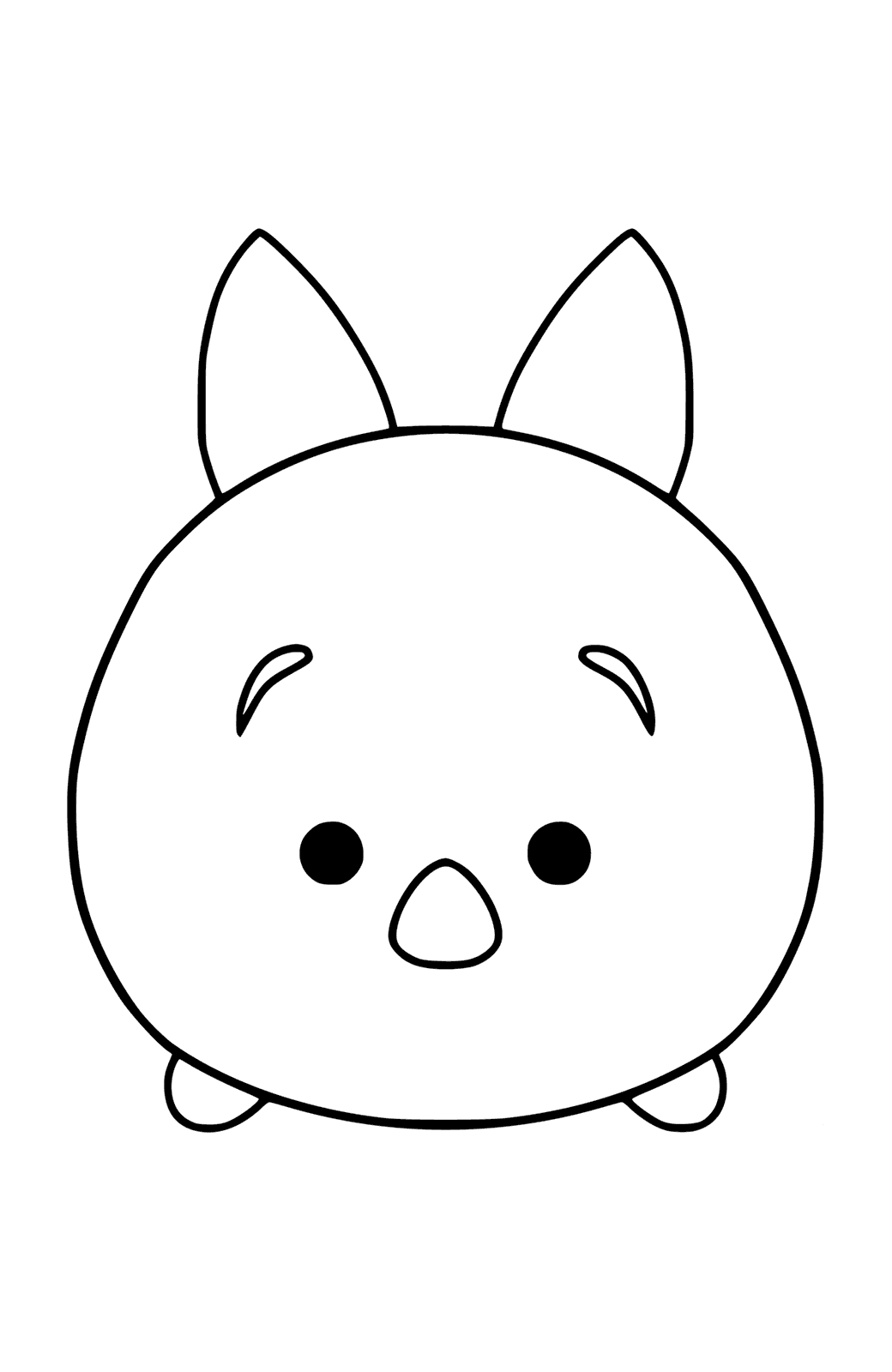 tsum tsum coloring pages four