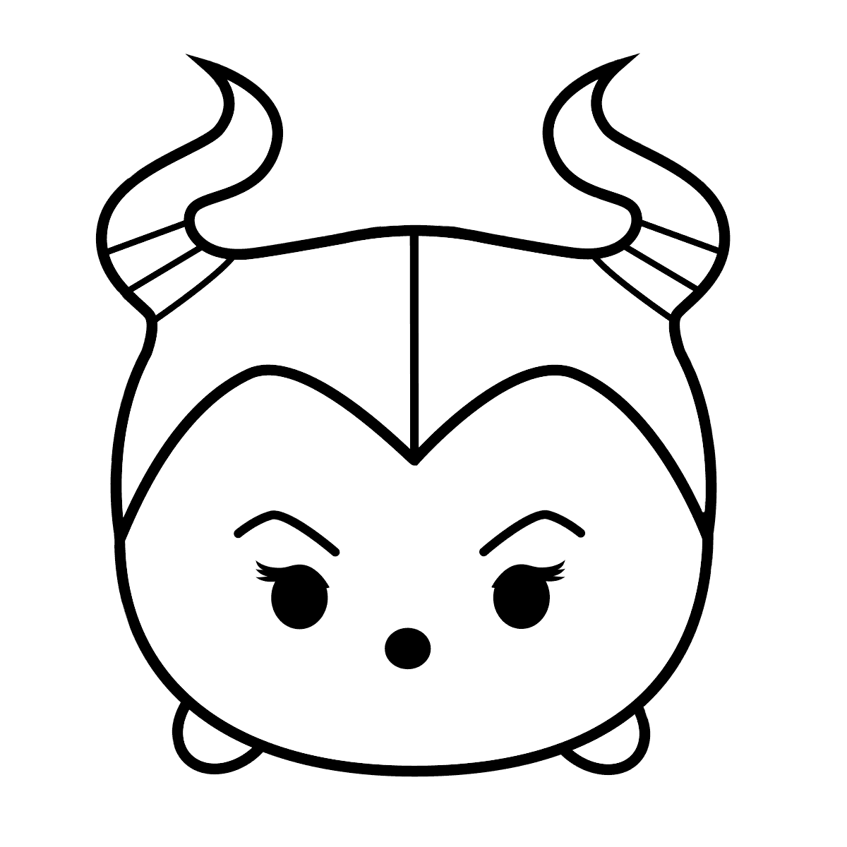 tsum tsum coloring pages one