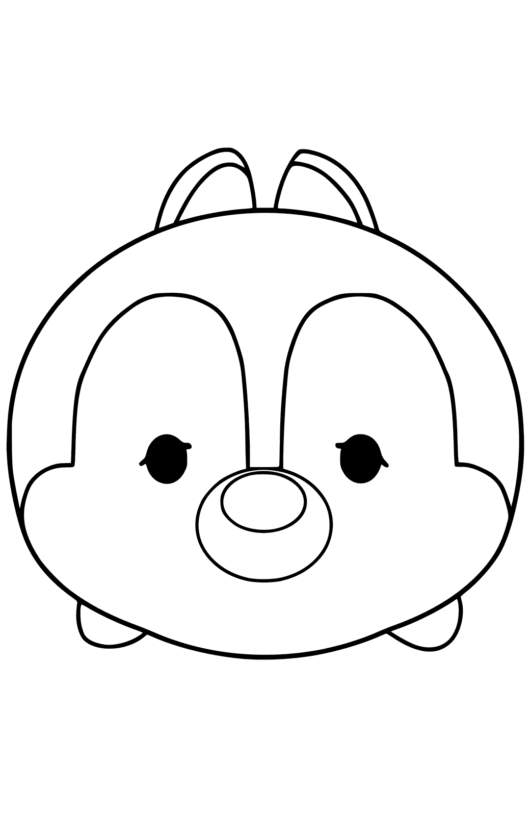 tsum tsum coloring pages two