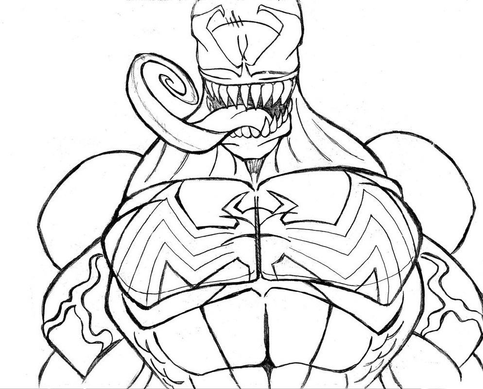 venom coloring pages 1