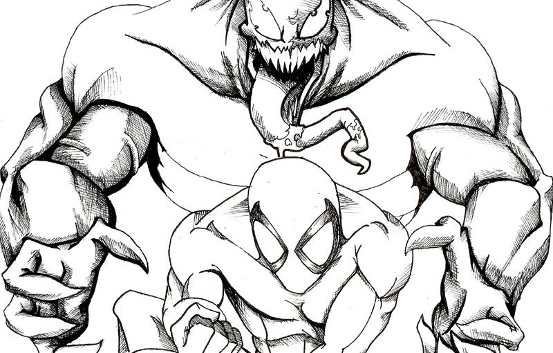 Venom Coloring Pages for Venom Lovers