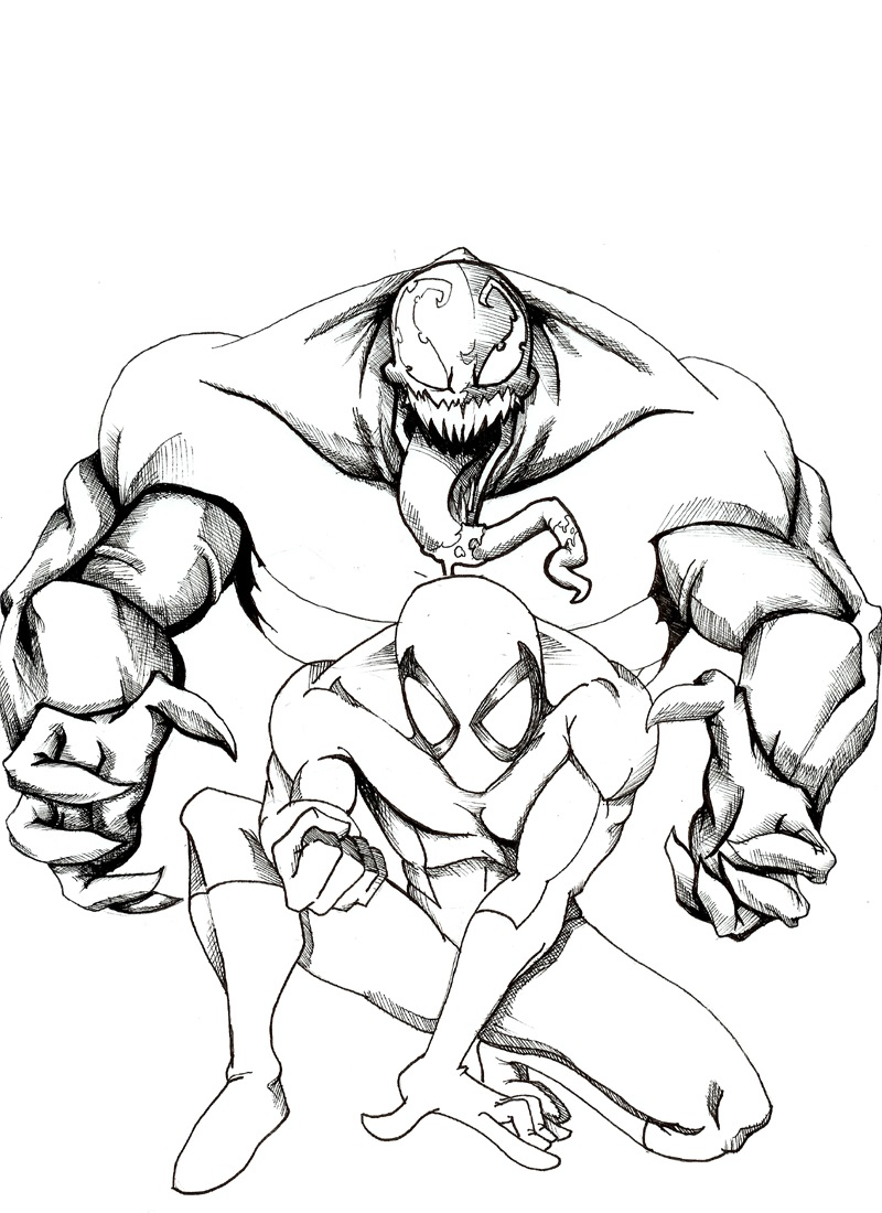 venom coloring pages 2