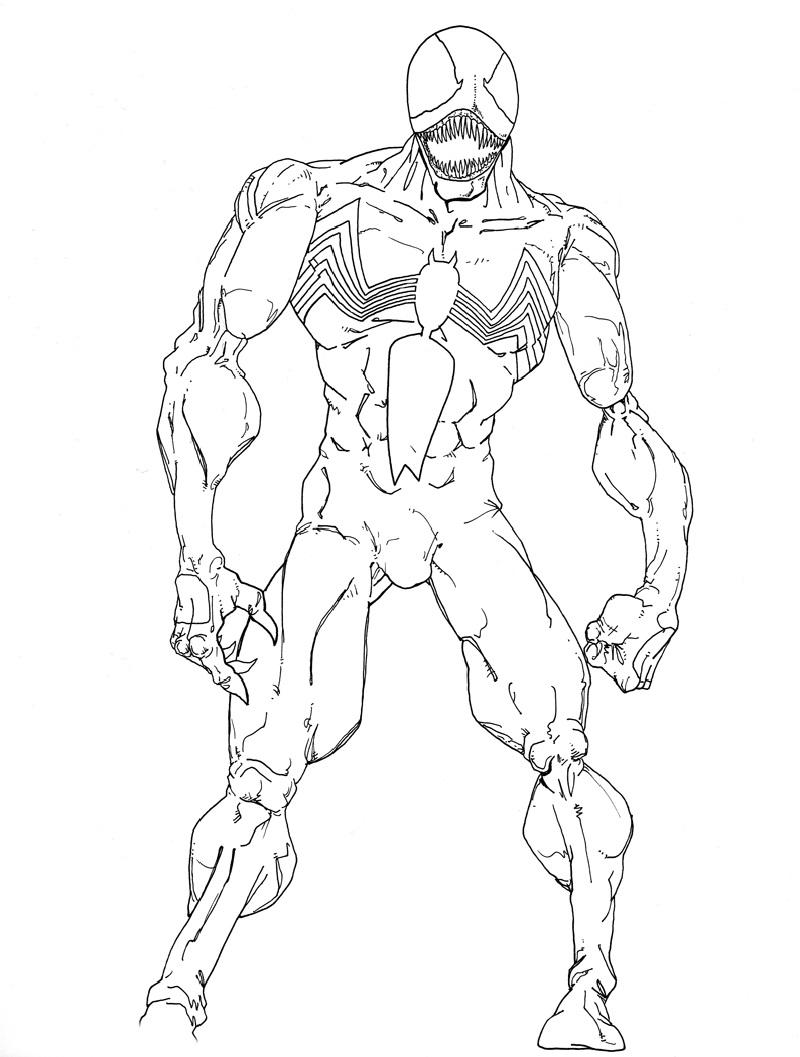 venom coloring pages 3