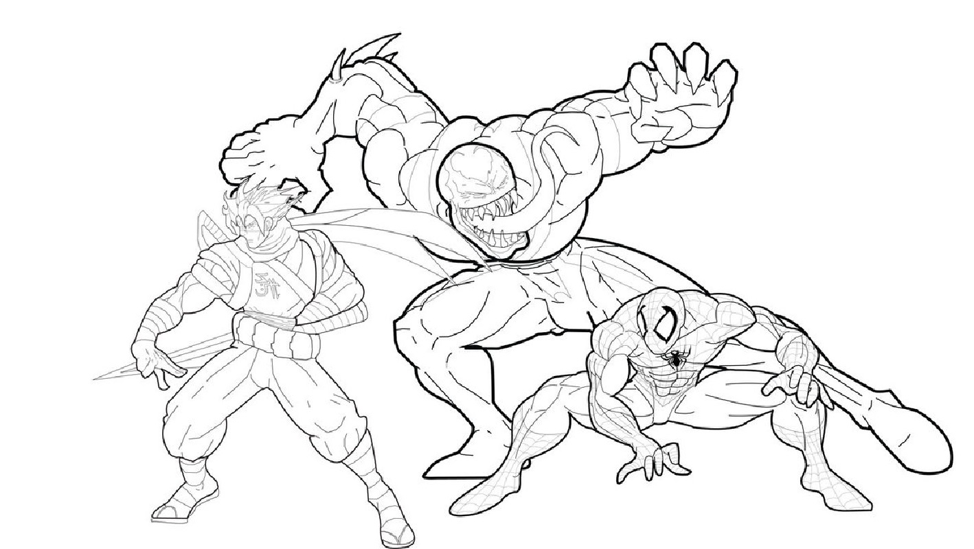 venom coloring pages 4