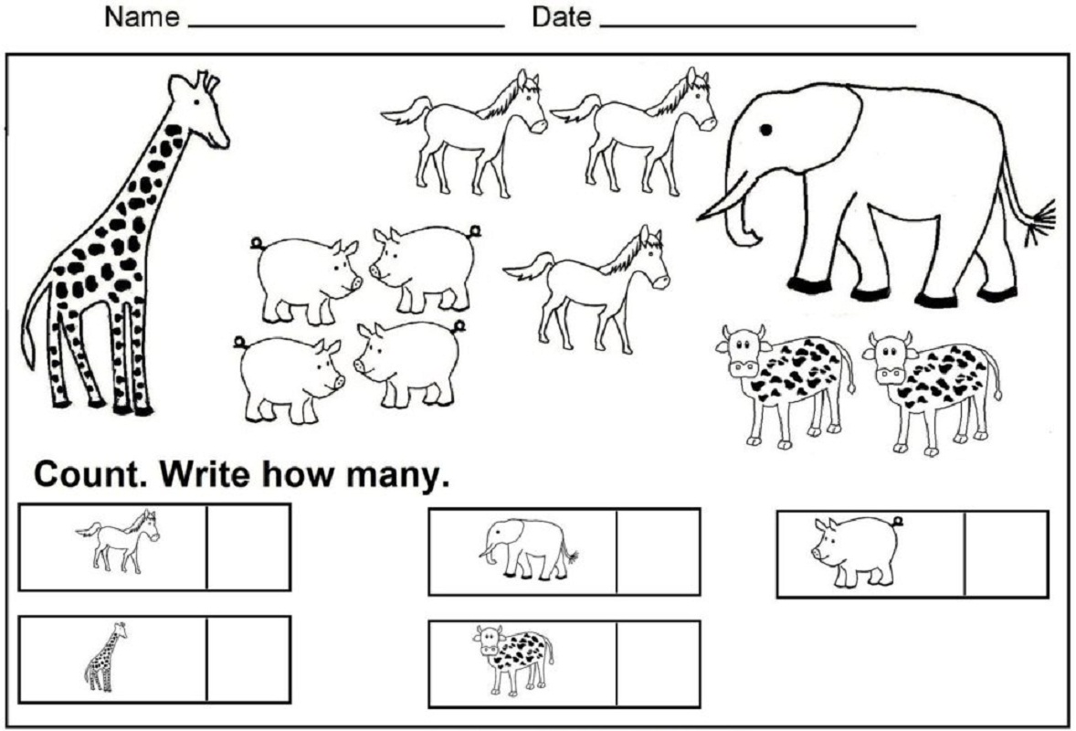 worksheet for nursery 5