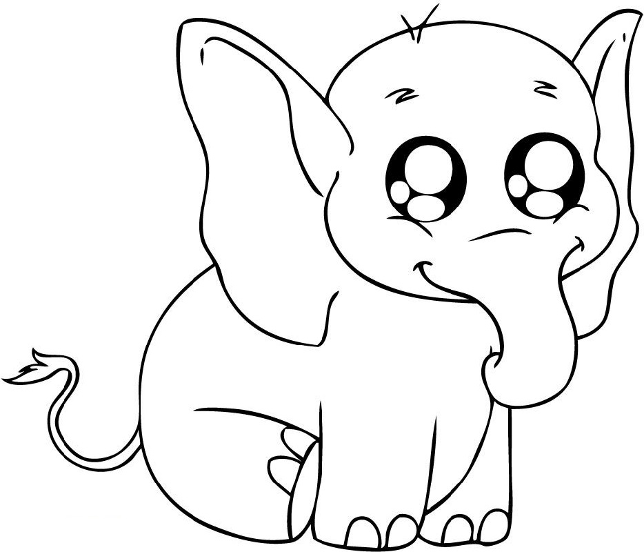 baby elephant coloring pages 1