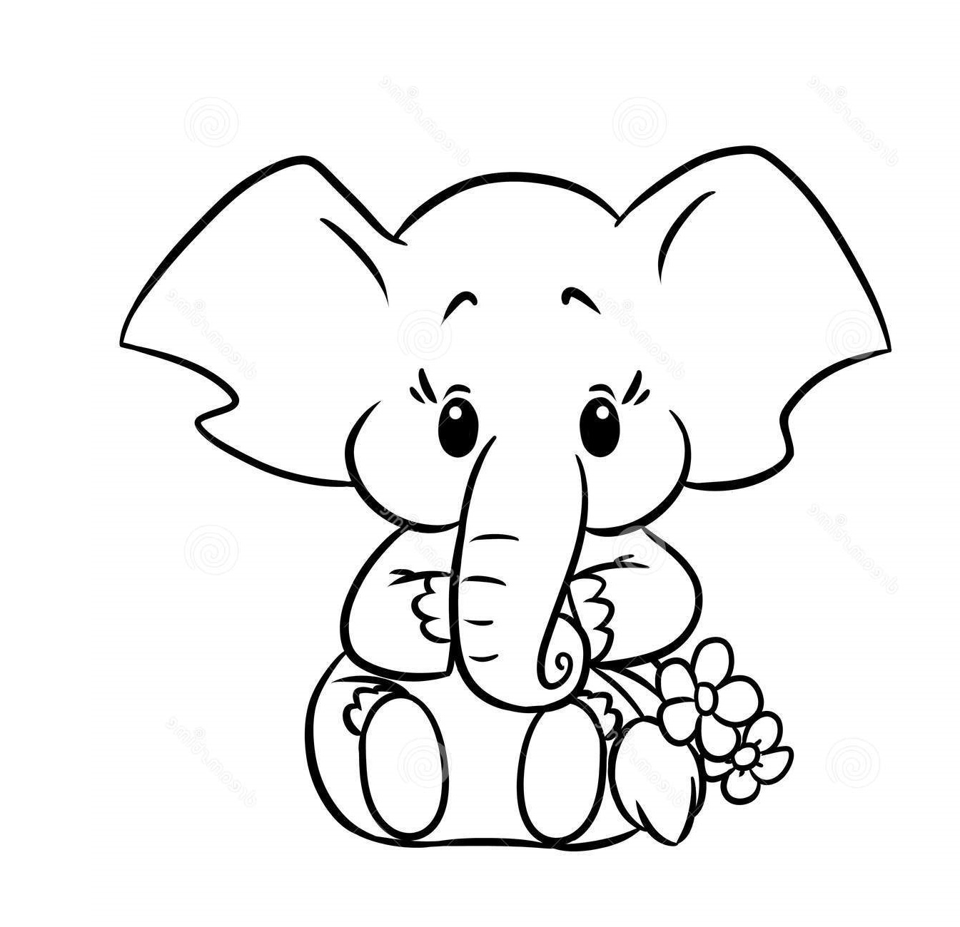 baby elephant coloring pages 3