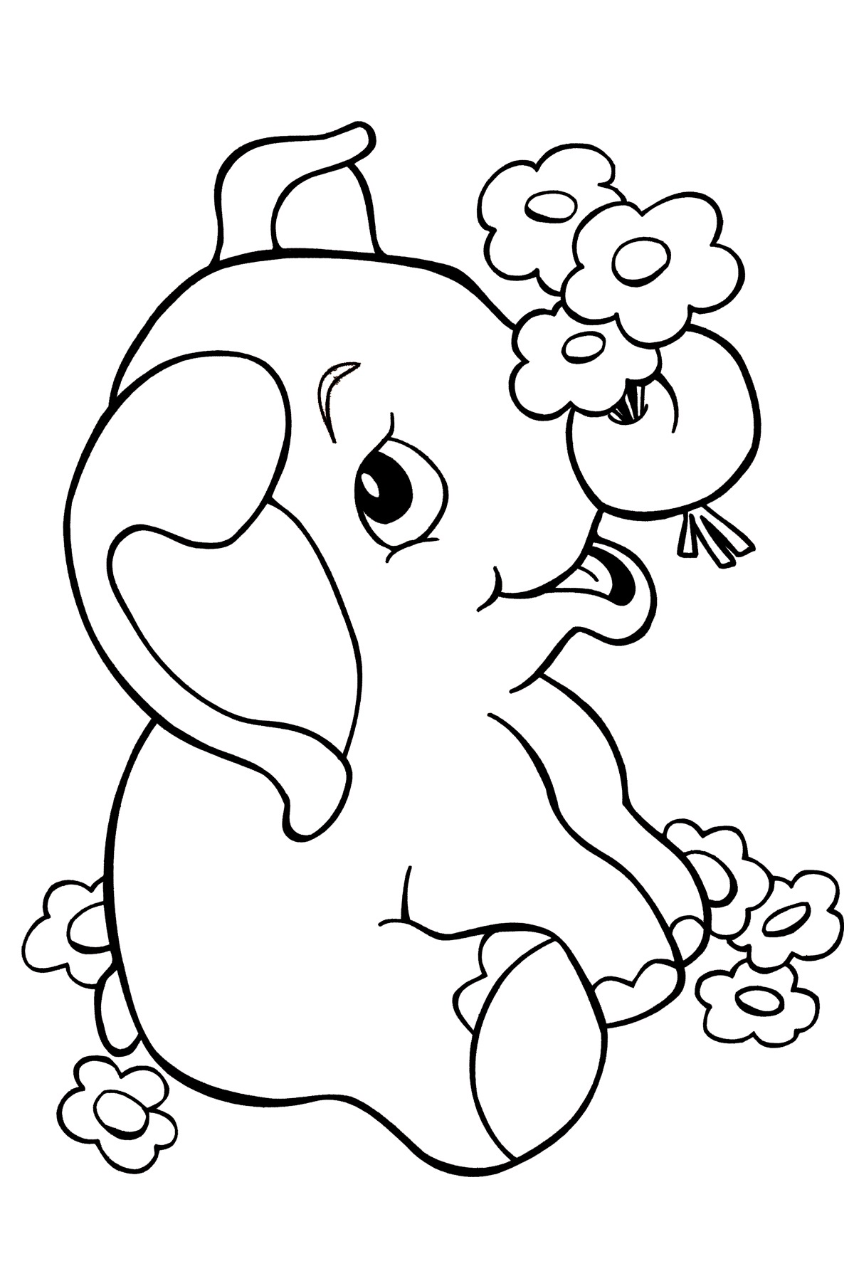baby elephant coloring pages 4