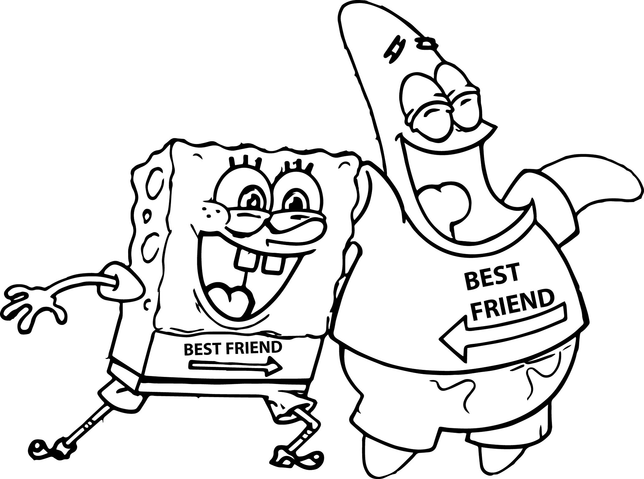 bff coloring pages 4