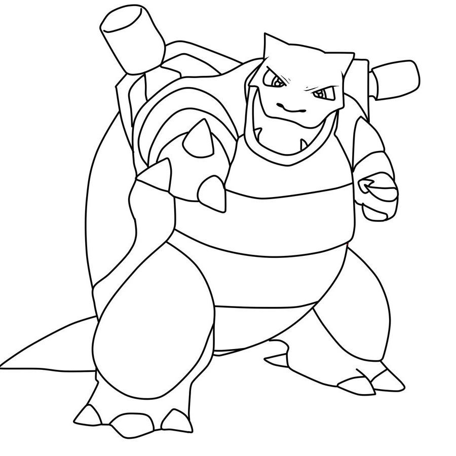 blastoise coloring page 3