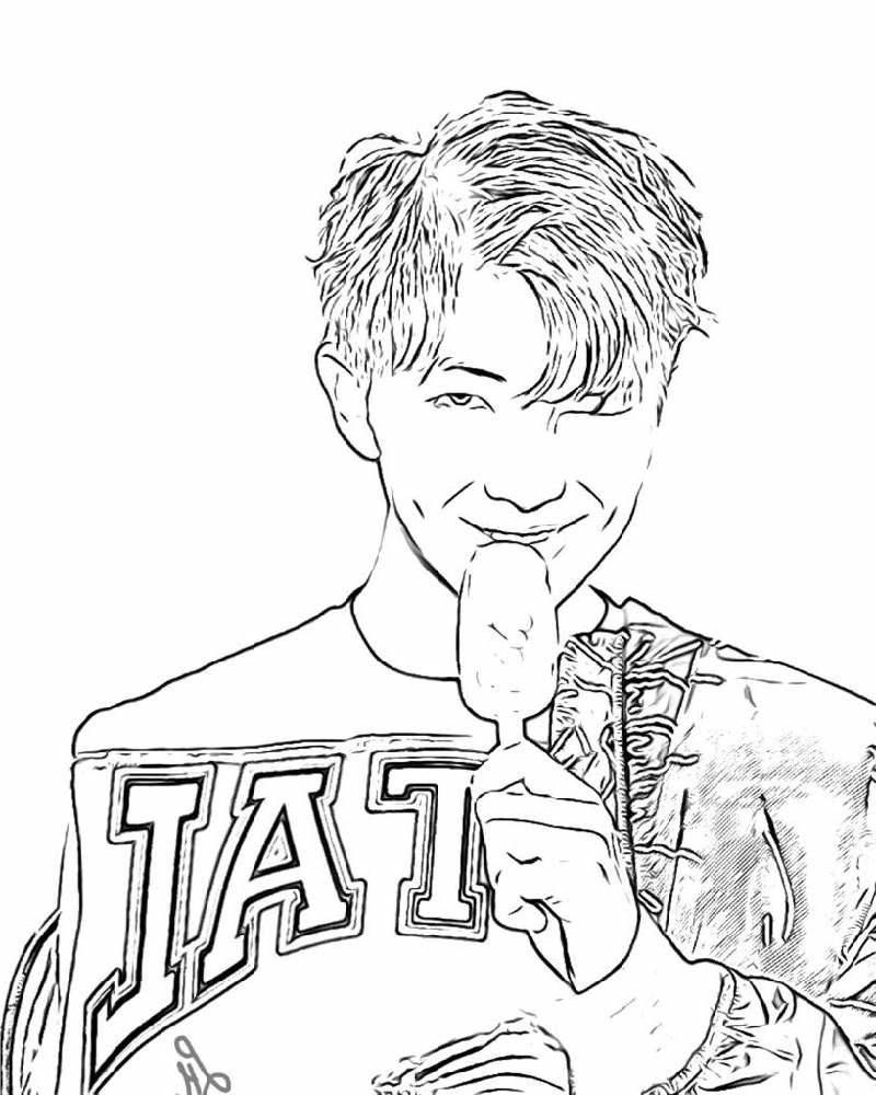 bts coloring pages 1