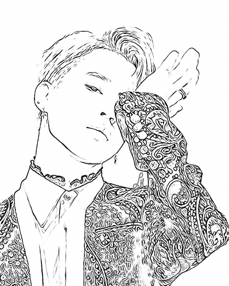 bts coloring pages 2
