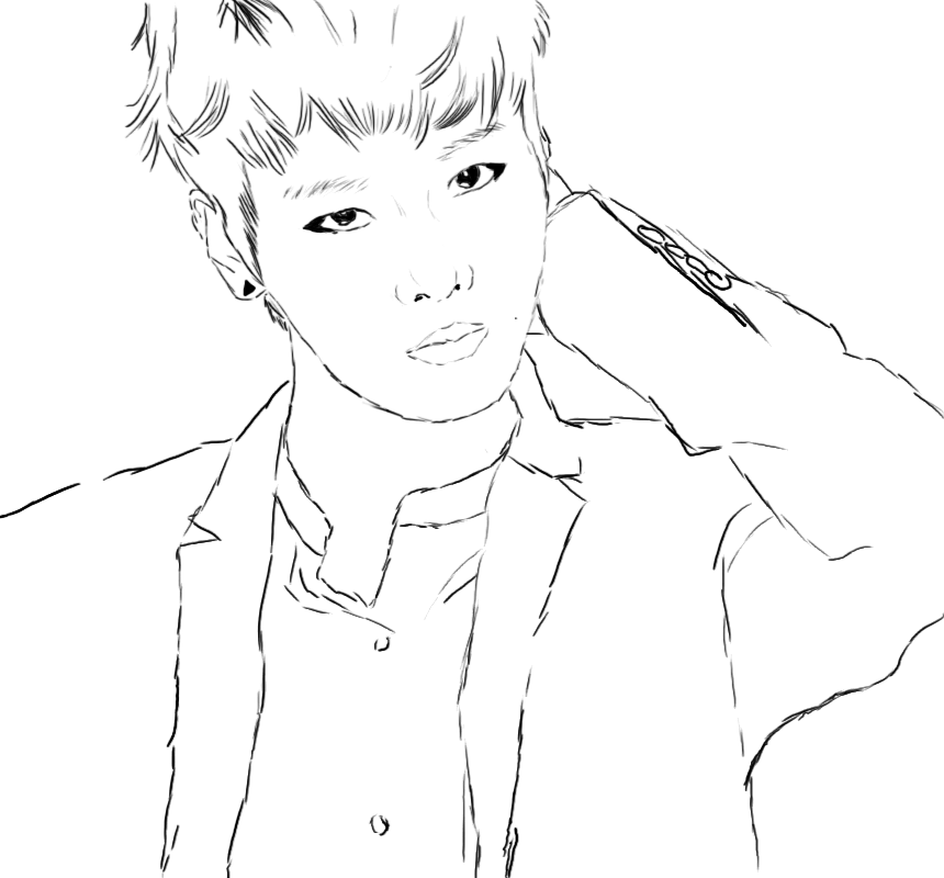 bts coloring pages 3