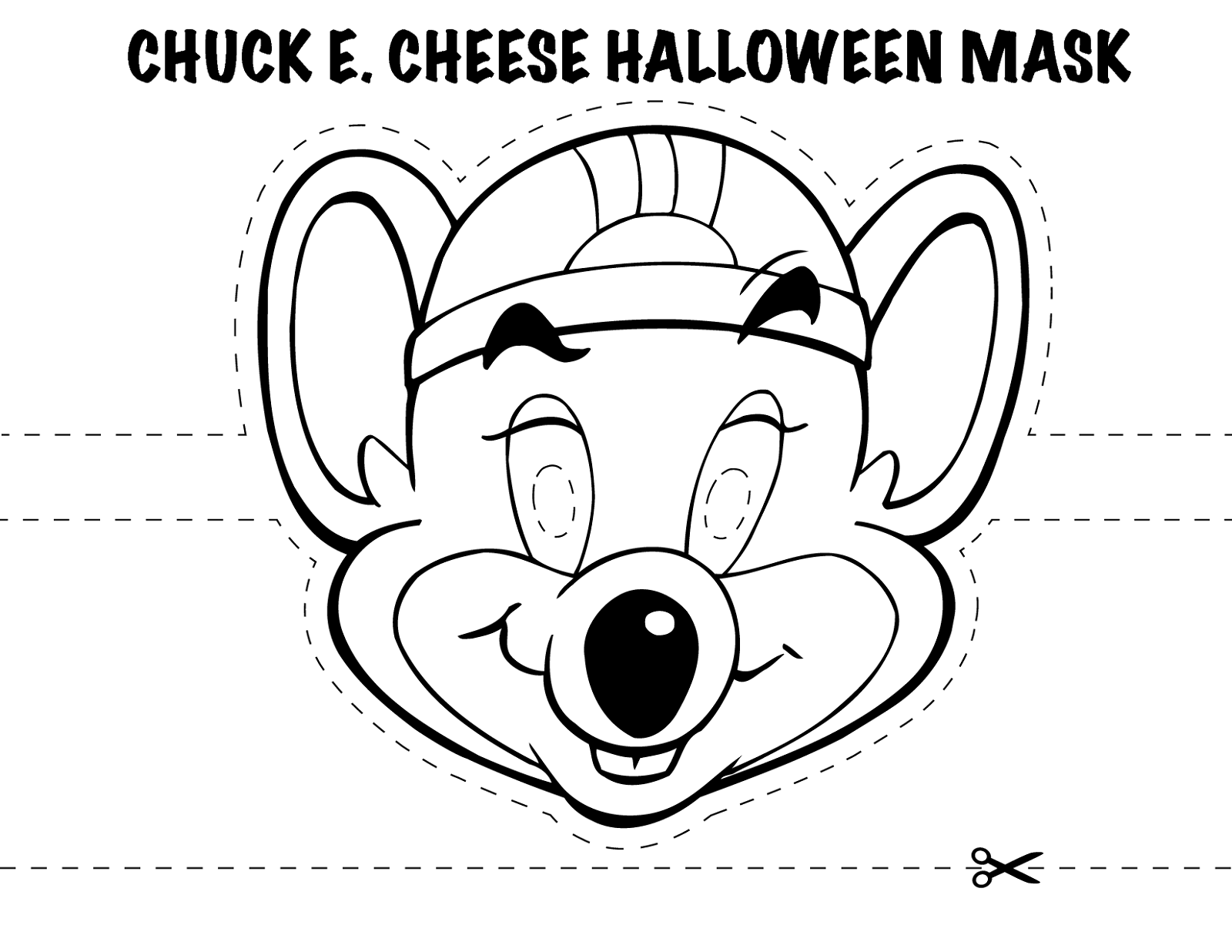 chuck e cheese coloring page 1