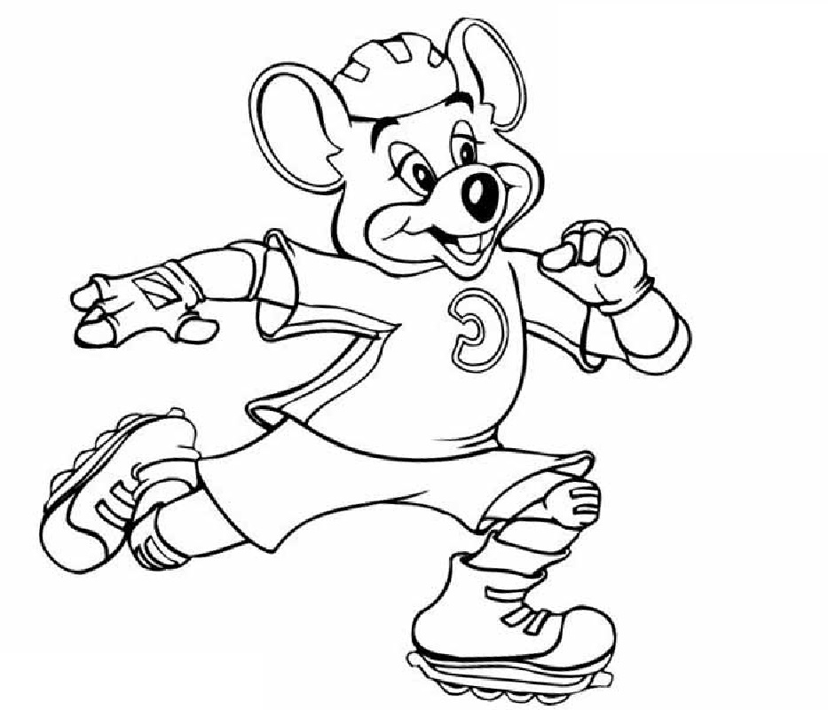 chuck e cheese coloring page 5