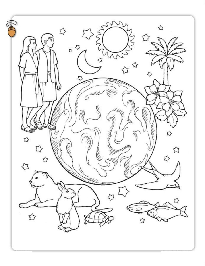 creation coloring pages 3