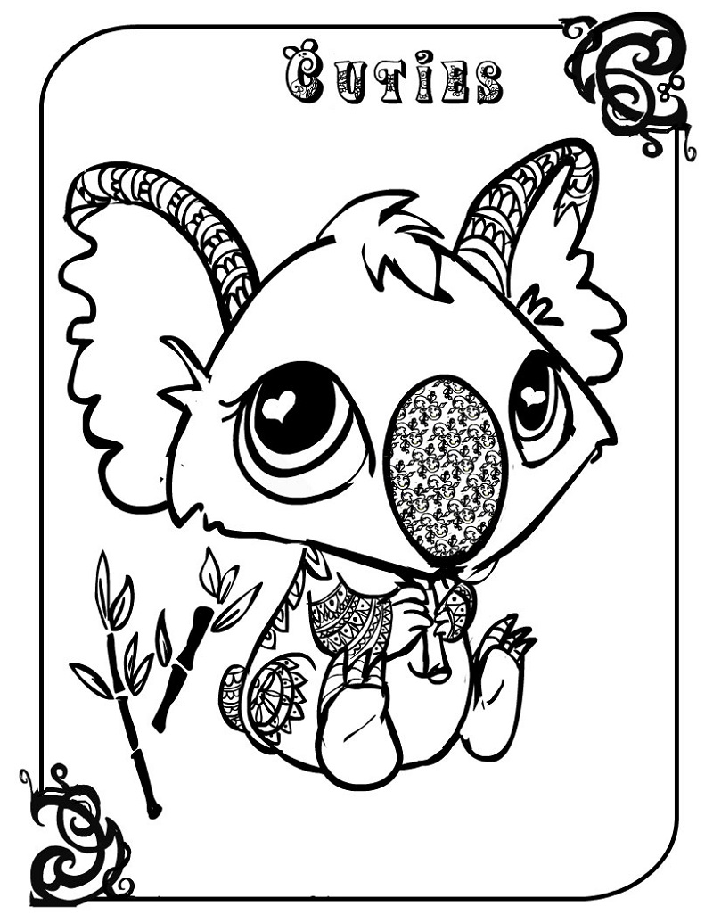 cuties coloring pages 4