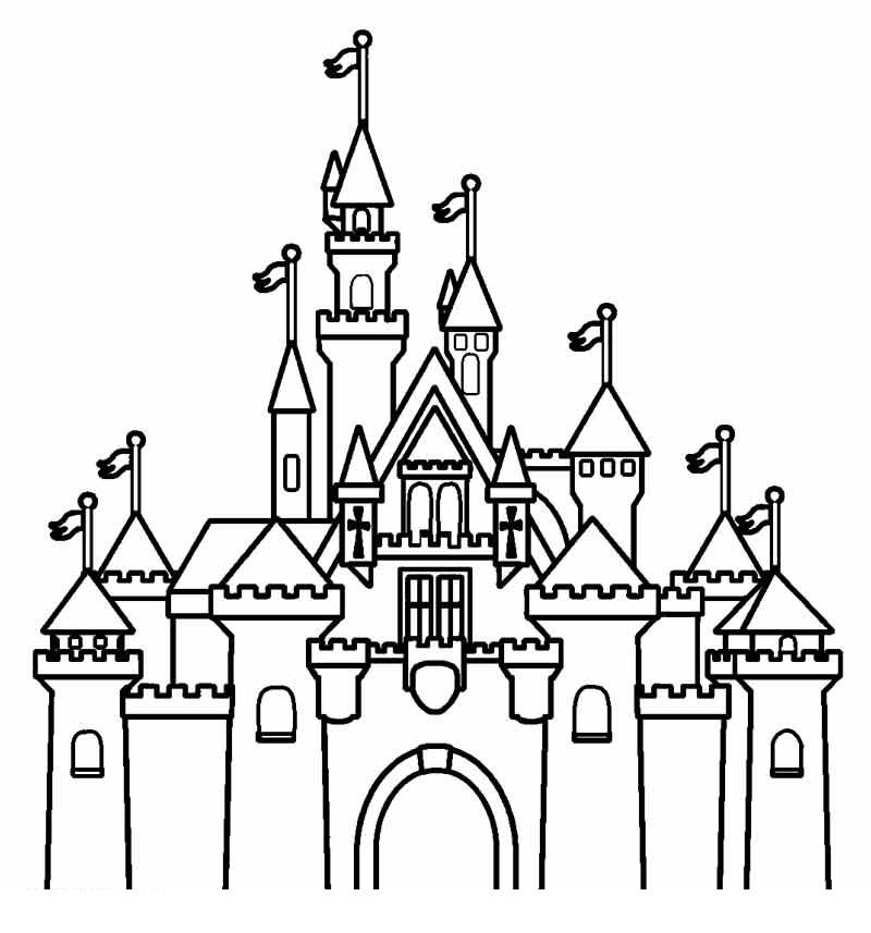 disney castle coloring pages 1