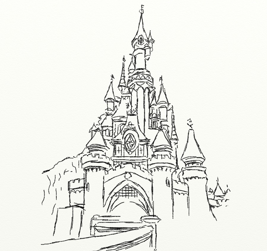 disney castle coloring pages 3