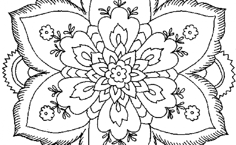 Flower Coloring Pages For Adults and Young