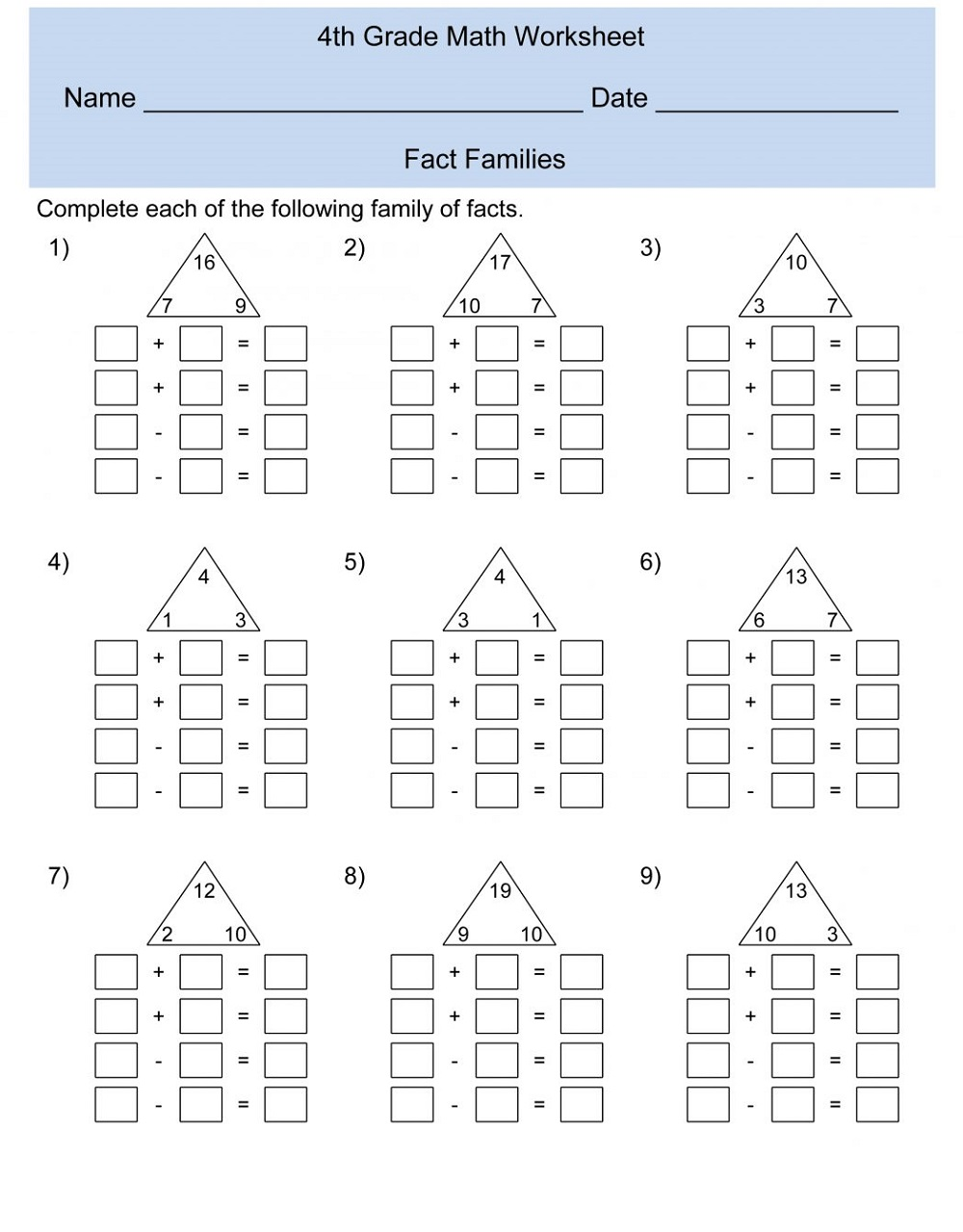 free fun math worksheets 2