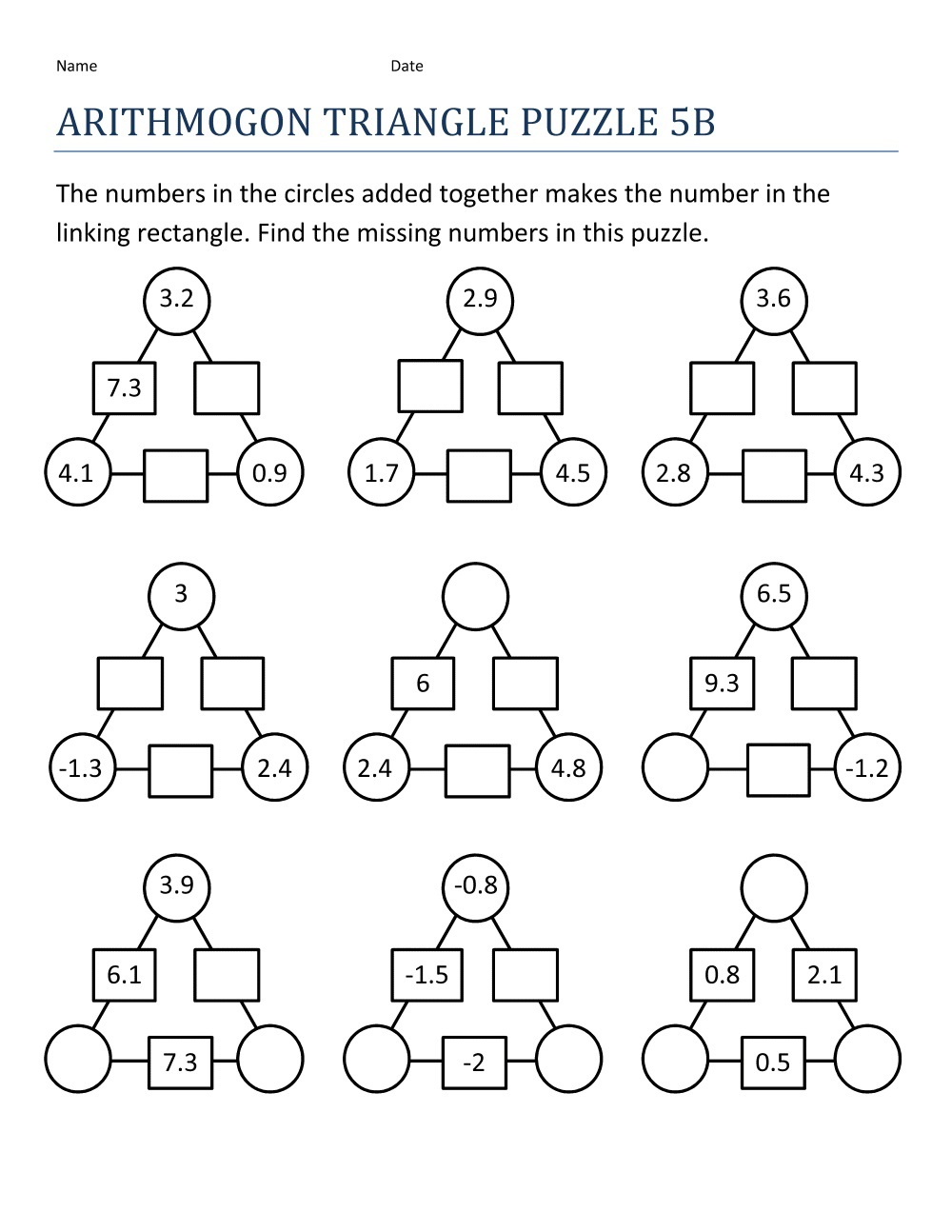 free fun math worksheets 3