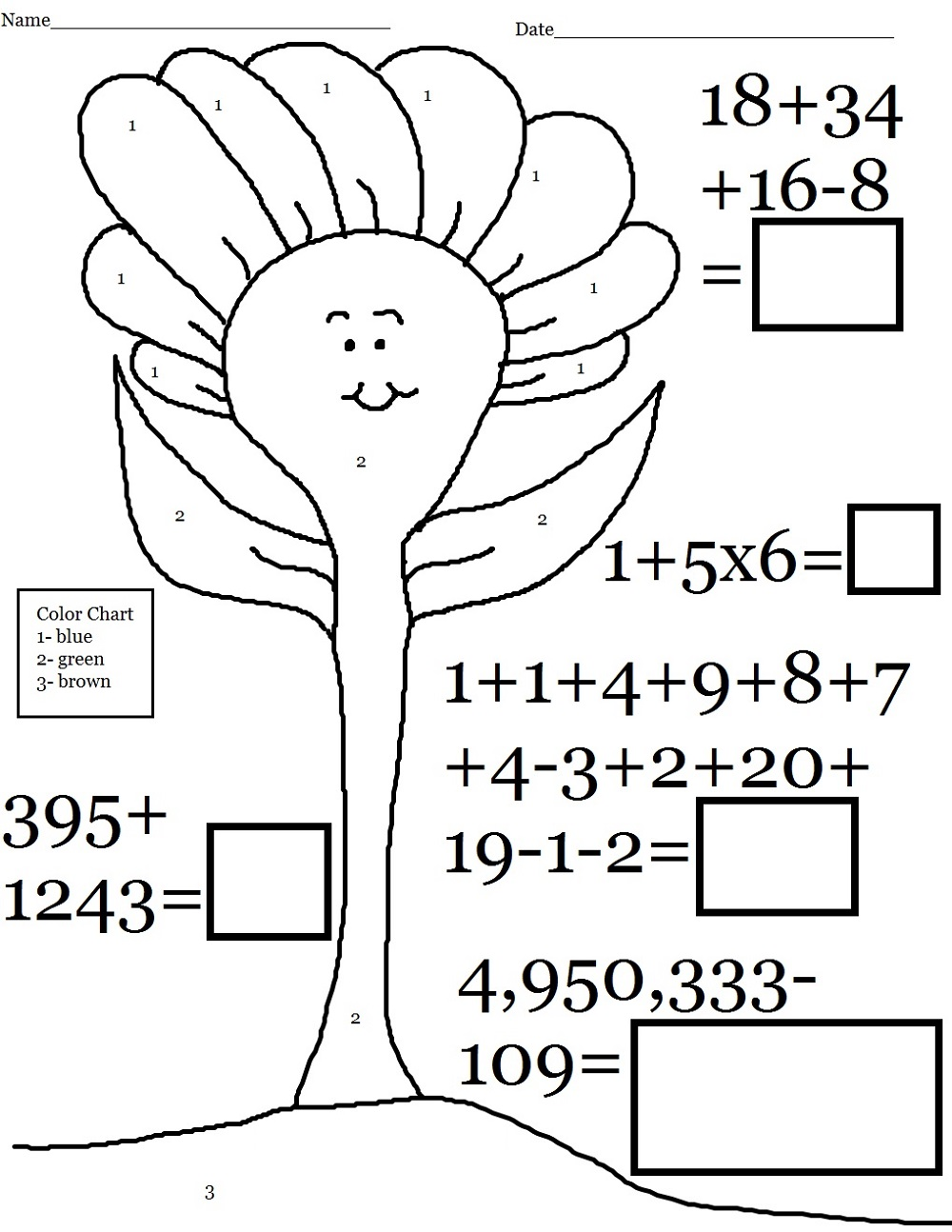 free fun math worksheets 4